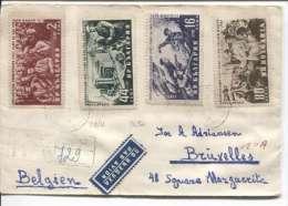 Bulgaria Sofia  1955 Registered Cover To Belgium Brussels PR343 - Briefe U. Dokumente