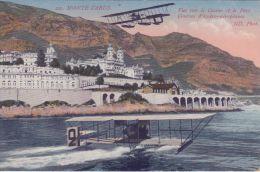 Monaco  Monte-Carlo  Vue Sur Le Casino Et Le Port Courses D'hydro- Aéroplanes  Watervliegtuigen         Scan  5269 - Monte-Carlo