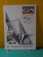 Carte Maxi / FDC, Journée Du Timbre - 69 Lyon - 19.3.1966 - 1er Jour - FDC