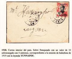 1920  - CARTA CIRCULADA PARA CORREO INTERIOR - Indochina (1889-1945)
