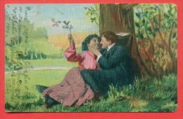 136390 / 1904 COUPLE Man Homme Mann KISS FORECT Woman Femme Frau - No. 172 - Couples