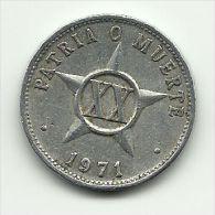 1971 - Cuba 20 Centavos, - Cuba