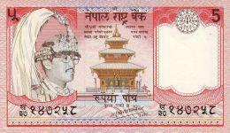 BILLET # NEPAL # 1987 # PICK 30 # BILLET NEUF # 5 ROUPIES  # - Nepal