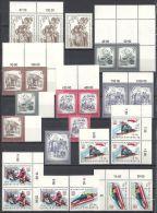 Österreich 1975 KOMPLETTER Jahrgang 3x ** MNH 4 Scans! Viele Rand, Eckrand, Paare; Michel 1474 - 1505 - Austria