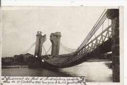 L'EFFONDREMENT DU PONT D'ANDREZIEUX APRES LA CRUE DU 17 OCTOBRE 1907 (VUE PRISE DE LA RIVE GAUCHE) CARTE PHOTO - Andrézieux-Bouthéon