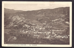 CPA ANCIENNE- FRANCE- ST-LAURENT-DE-CERDANS (66)- VUE GENERALE PLONGEANTE EN GROS PLAN- CULTURES - Frankreich