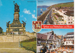 Germany Greetings Gruss Aus Ruedesheim Multi View
