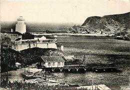 Pyrenees Orientales -gd Format -ref L698- Port Vendres - Le Phare Et L Entree De La Rade -carte Bon Etat - - Port Vendres