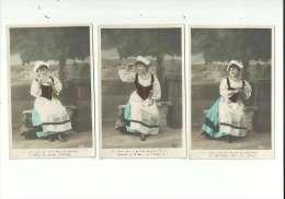 6  CP PHOTO COULEUR  1900...roman Photo.. Ref   :  M.F.n° 1/2/3/4/5/6/....à Voir - Tarjetas De Fantasía