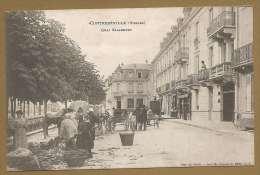 BELLE C.P.A - CONTREXEVILLE (Vosges) - Quai Salaberry - Marchés - Attelages - France