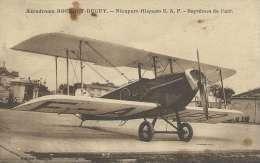 "Aérodrome Bourget-Duguy - Avion "" Nieuport-Hispano C.A.F. - Baptêmes De L'air  -1932 ( Voir Verso ) - Avions"