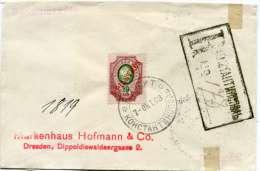 LEVANT RUSSE LETTRE RECOMMANDEE DEPART CONSTANTINOPLE 7 OKT 03 POUR L'ALLEMAGNE ARRIVEE RADEBEUL 24.10.03 - Levant