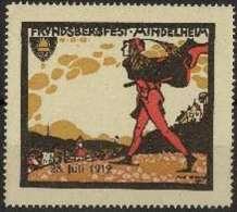 """Vignette  """"Frundsbergfest Mindelheim""""           1912 - Cinderellas"""