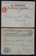 2 Enveloppes à Entete Commerciales AUBUSSON & ST SILVAIN BAS LE ROC - CREUSE / Années 1910 - 1926 - Postmark Collection (Covers)