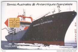 TAAF, TAF-27, Le Marion Dufresne II, Ship, 2 Scans. - TAAF - Franse Zuidpoolgewesten