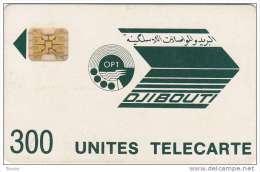 Djibouti, DJI-06, 300 Units, First Issue, Dark Blue Logo, Chip SC4, Control 8717 - Dschibuti