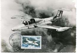 CARTE MAXIMUM POSTE AERIENNE 300F  MS 760 PARIS OBLITERATION SPECIALE 1er JOUR PARIS 14-2-59 - 1950-59
