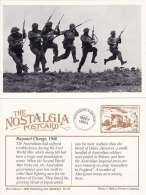 Postcard WW2 Bayonet Charge Australian Army Training Camp England 1940 Nostalgia Repro - Equipment