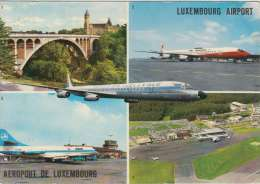 Luchthaven Luxembourg   Baf  British United    Luxair , Air Bahama, Loftleidir Icelandic       Scan 5283 - 1946-....: Moderne