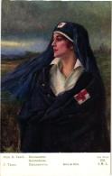 4 CP Croix Rouge Francaise Association Des Dames Françaises Ramscapelle Malines Nieuport  Nurse Infirmière - Guerra 1914-18