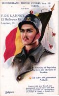 5 CP Soldiers Belgium Italy Cartes Pub Que Chacun Fasse Son Devoir    Dans La Nuit  L'extrème Frontiere Départ Des Troup - Guerre 1914-18