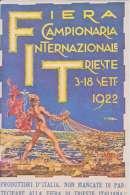 1922 Fiera Campionaria Internazionale Trieste,illustratore Orell - Esposizioni