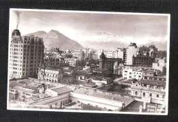 RP CHILE SANTIAGO VISTA  PANORAMIC  1954 ???? CIRCULADA  FRANKED POSTMARK POSTAL HISTORY - Chili