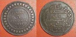 Tunisie 5 Centimes 1916 A Bronze (mc1643) - Tunisie