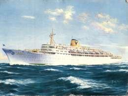 (669) Older Postcard - Carte Assez Ancienne - Paquebot T/V Fairstar - Cruise Ship - Posted From Aden 1963 - Dampfer