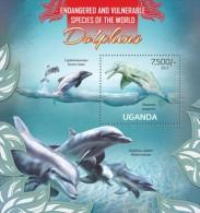 UGN13113b Uganda 2013 Dolphins s/s