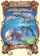 gu13215b Guinea 2013 Dolphins s/s