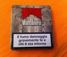 MARLBORO - METAL BOX IN ALLUMINO NUOVISSIMO VINTAGE EDIZIONE LIMITATA - Contenitori Di Tabacco (vuoti)