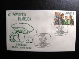 Cover From Spain Special Cancels Mushrooms Micologia - 1931-Hoy: 2ª República - ... Juan Carlos I