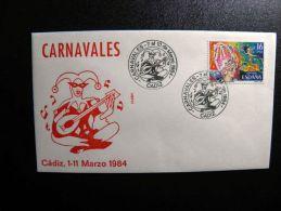 Cover From Spain Special Cancels Music Musical Instrument Carnavales - 1931-Hoy: 2ª República - ... Juan Carlos I