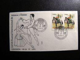 Cover From Spain Special Cancels Music Dance - 1931-Hoy: 2ª República - ... Juan Carlos I