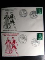 2 Covers From Spain Special Cancels Music Dance Folk - 1931-Hoy: 2ª República - ... Juan Carlos I