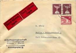 1959  Durch Eilboten  Orstbrief  MiNr 146, 147 X2 - Berlin (West)