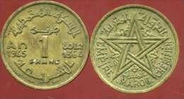 MAROC  1 Franc  1945 - Marruecos