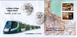 Algérie Bloc N° 17 Transport Métro D'Alger Train Algier U-Bahn  Metro De Argel  Metro Subway - Algeria (1962-...)