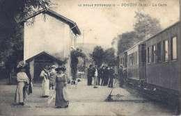 01 PONCIN  LA GARE TRAIN TRAM - France