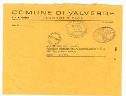 CAP 27050  - VALVERDE - PV - TACDT - LOMBARDIA - ANNO 1981 - F.TO 18 X 24  - STORIA DEI COMUNI D´ITALIA - Affrancature Meccaniche Rosse (EMA)