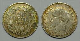 FRANCIA (France): 20 Centimes 1860 - E. 20 Centesimi