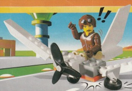 Lego 4614 Jack Stone Avion avec plan 100 % Complet voir scan