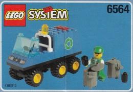 Lego 6564 Camion poubelle avec plan 100 % Complet voir scan