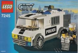 Lego 7245 Le transport des prisonniers avec plan 100 % Complet voir scan