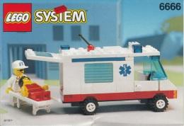 Lego 6666 Ambulance Avec Plan 100 % Complet Voir Scan - Lego System