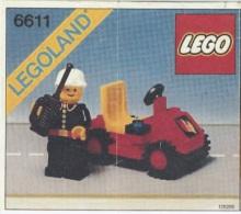 Lego 6611 Commandant du Sapeurs-Pompiers avec copie couleur du plan 100 % Complet voir scan