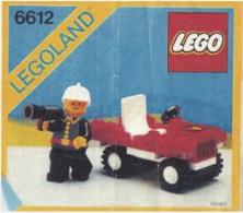 Lego 6612 Commandant du Sapeurs-Pompiers avec copie couleur du plan 100 % Complet voir scan
