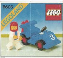 Lego 6605 Road racer avec copie couleur du plan 100 % Complet voir scan