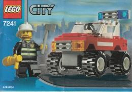 Lego 7241 Voiture du chef pompier avec plan 100 % Complet voir scan